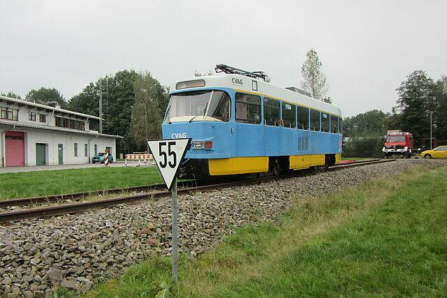 Durch die erhaltene TATRA-Straßenbahn können am Feuerwehrtechnischen Zentrum Erzgebirge weitere Einsatzszenarien praxisnah geübt werden.