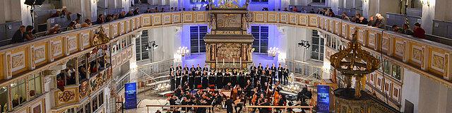 Das Abschlusskonzert vom Musikfest Erzgebirge 2018 in der St. Georgen-Kirche in Schwarzenberg.